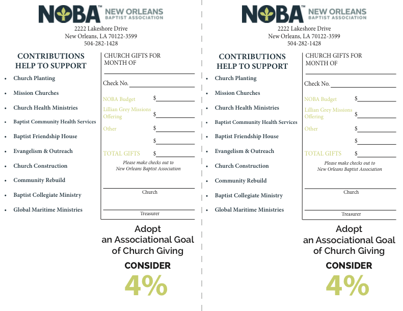 Associational Giving Form graphic